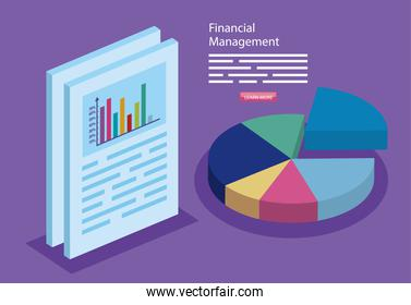 financial management with infographics and document