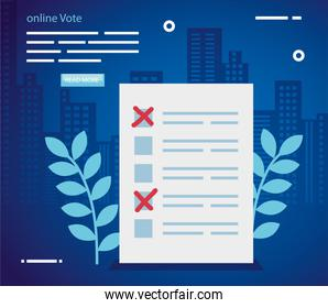 poster vote online with vote form paper