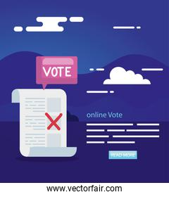 poster of vote online with vote form