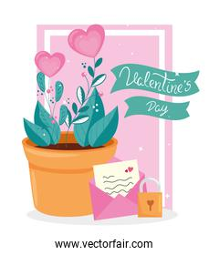 valentines day with flowers and decoration