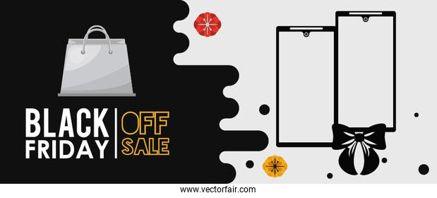 black friday poster with smartphone