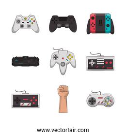 bundle of video game controls