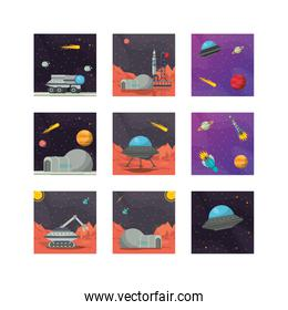 bundle of space set icons