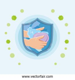 washing hands with water and soap, prevents coronavirus infection