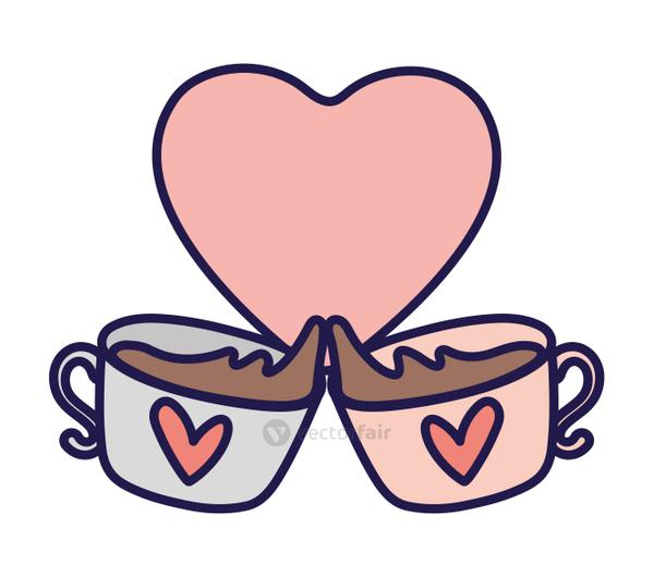 happy valentines day toast chocolate cups heart love