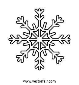 snowflake christmas decoration line style icon