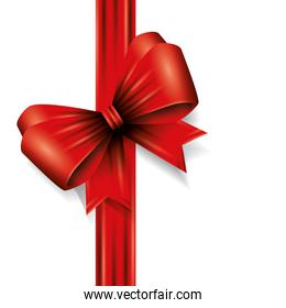 bow ribbon christmas decorative isolated icon