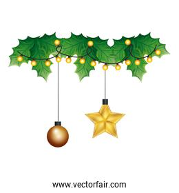 ball with star hanging christmas decoration