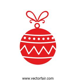 ball christmas decoration isolated icon