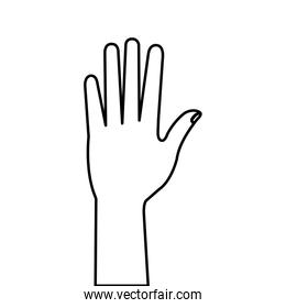 hand person human line style icon