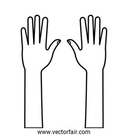 hands person human line style icon