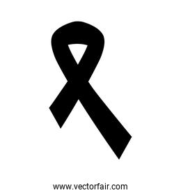silhouette of ribbon campaign isolated icon