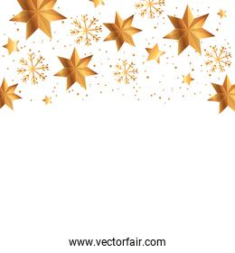 decoration of snowflakes and stars christmas