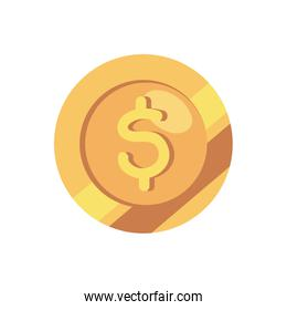 coin money cash isolated icon