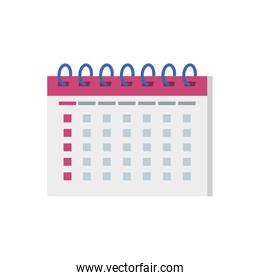 pink and white calendar reminder date