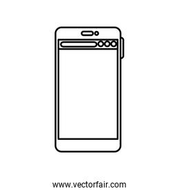 Isolated smartphone icon vector design