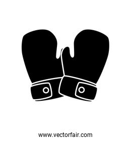 Isolated boxing gloves vector design