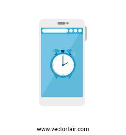 Smartphone and healthy lifestyle concept vector design