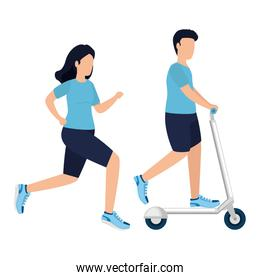 Man woman and healthy lifestyle vector design