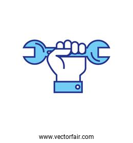 Isolated construction wrench vector design