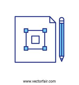 Isolated construction plans paper vector design