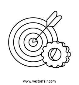 Isolated target and gear vector design