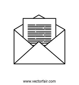 Isolated envelope icon vector design