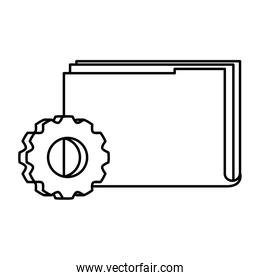 Isolated file and gear vector design