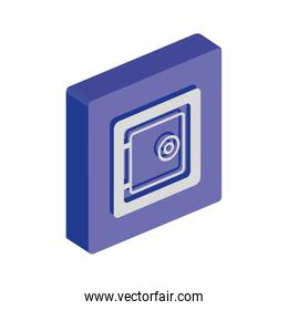 button with strongbox private safety isolated icon