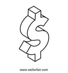 dollar currency symbol line style icon