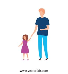 father with daughter avatar characters