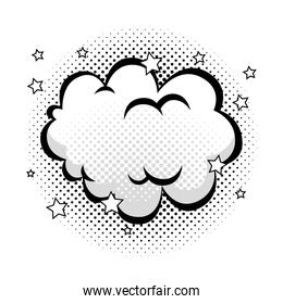 cloud with stars pop art style