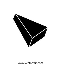 silhouette of triangle isometric style isolated icon
