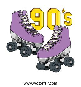 roller skate nineties retro isolated icon
