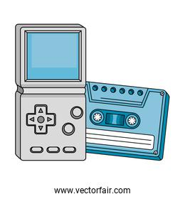 cassette with video game handle nineties style
