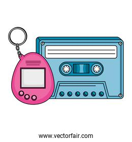cassette with video game mascot nineties retro