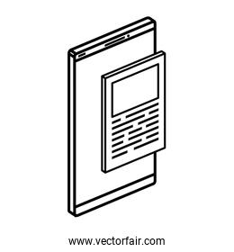 smartphone device with document isolated icon