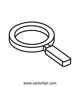 magnifying glass instrument isolated icon