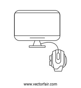 tv display device with mouse computer