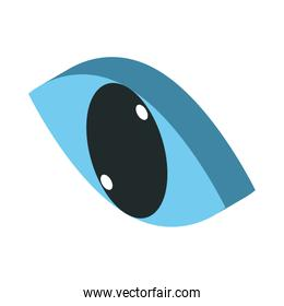 eye view security isolated icon