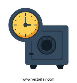 safe box money with time clock
