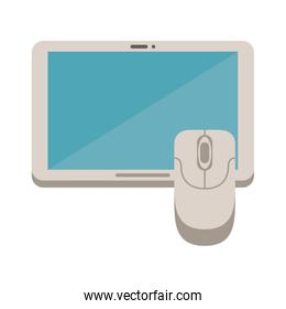 tablet electronic device with mouse