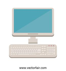 desktop computer with keyboard icon