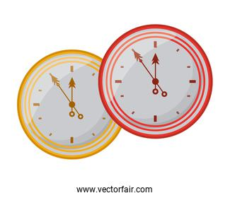 time clocks watch isolated icons