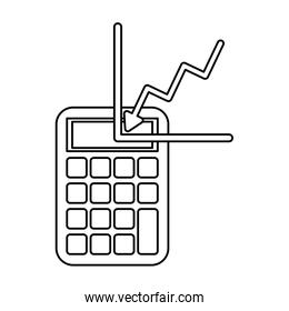 financial statistics graphic with calculator math