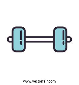 dumbbell weight lifting accessory icon