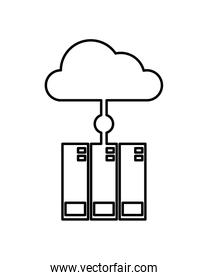 cloud computing data isolated icon