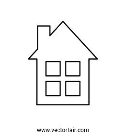 house building facade isolated icon