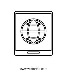 tablet device with sphere browser