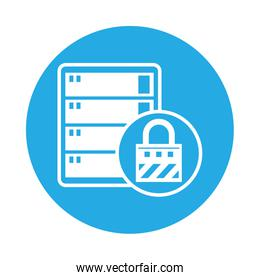 data server tower isolated icon